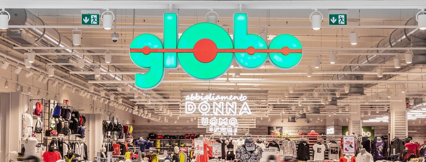 Centro Commerciale AlBattente TESTATA negozio Globo