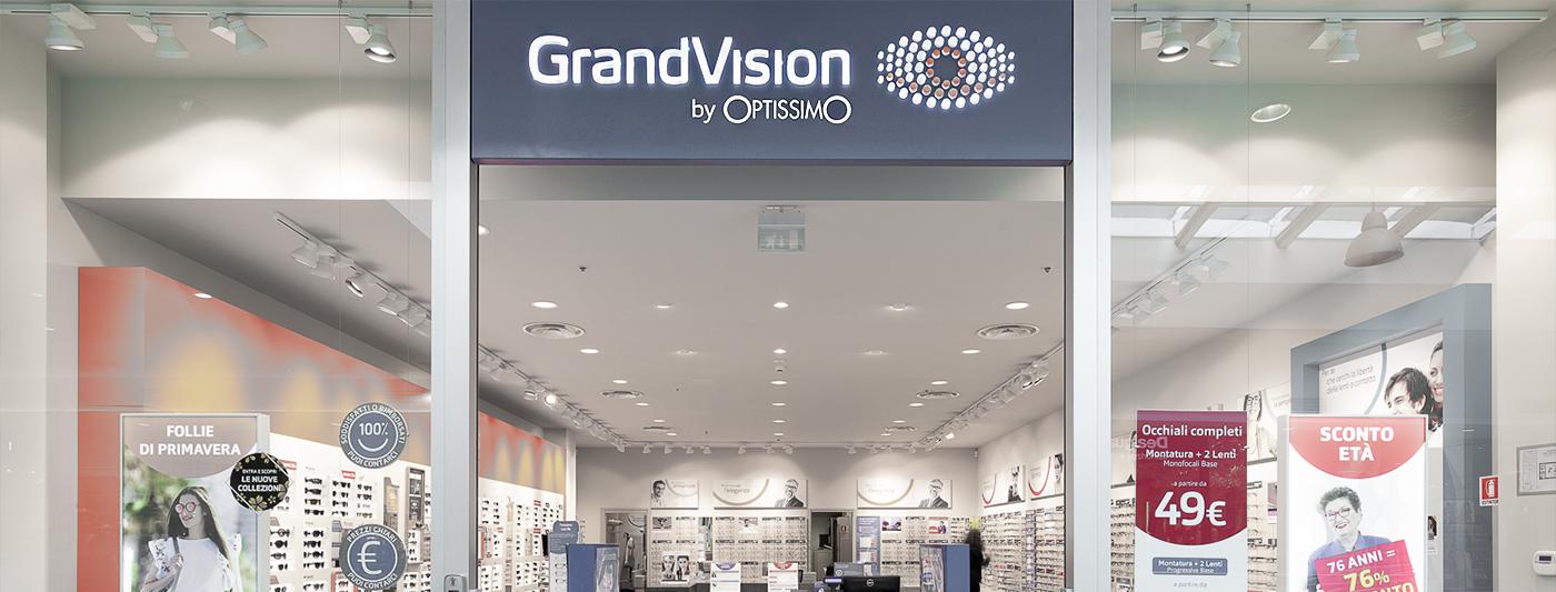 Centro Commerciale AlBattente TESTATA negozio Grandvision
