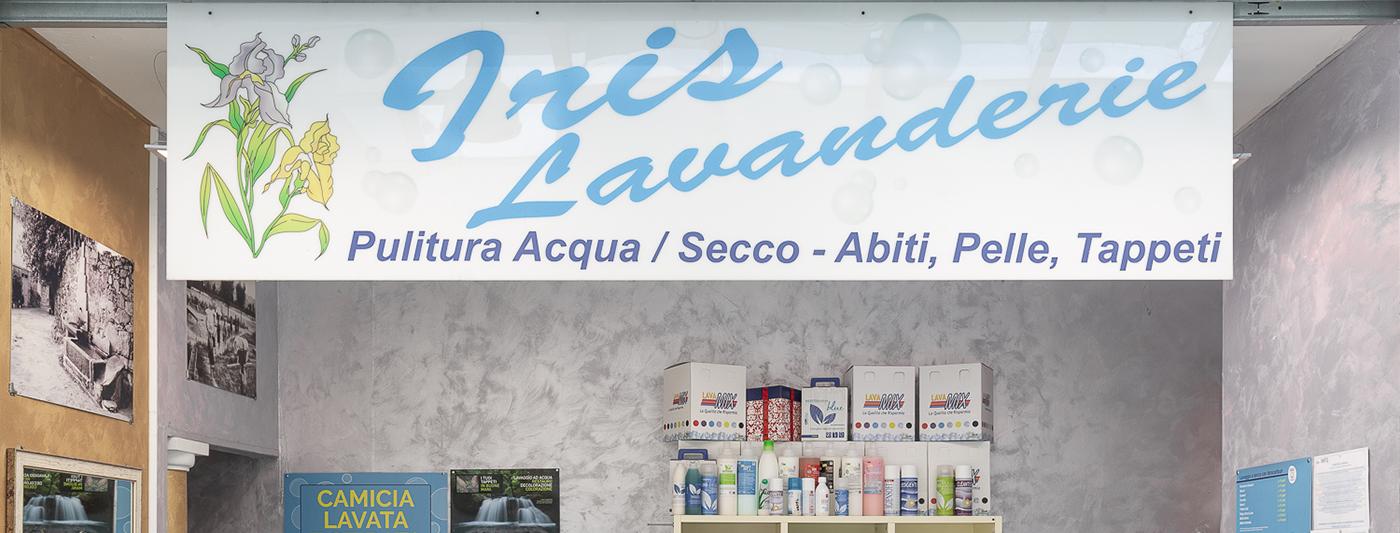 Centro Commerciale AlBattente TESTATA negozio Lavanderie Iris
